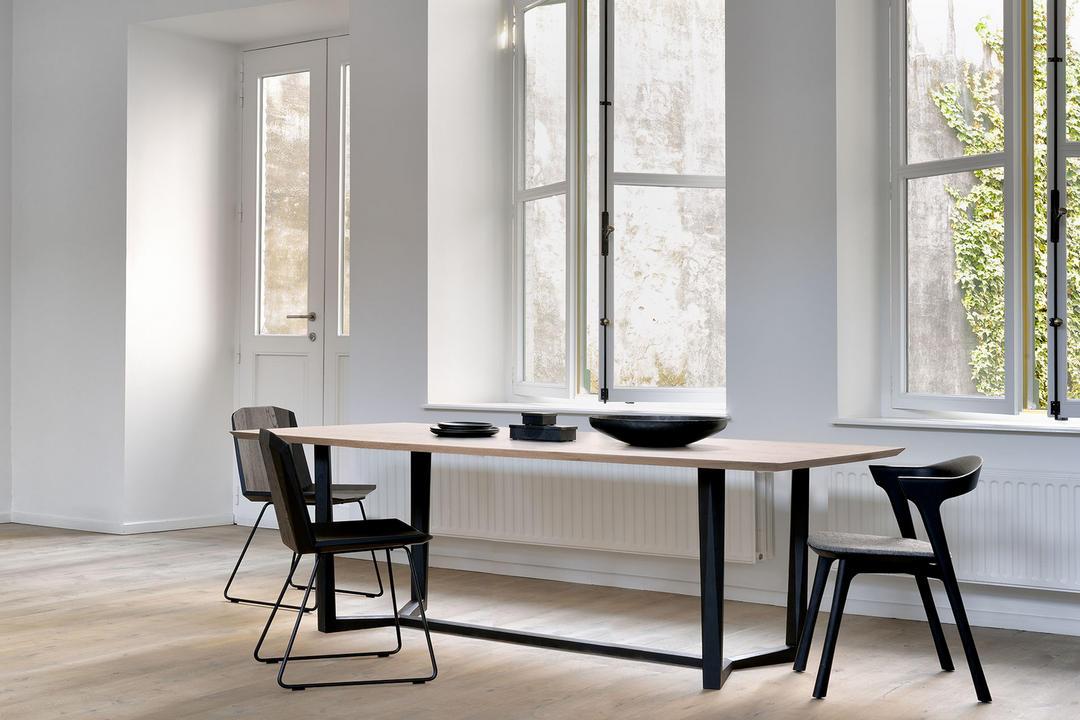 Bok Dining Chair Black Oak+Grey Upholstery 51493