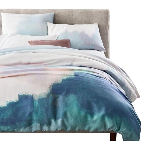 Tencel Abstract Landscape King Duvet Cover Midnight