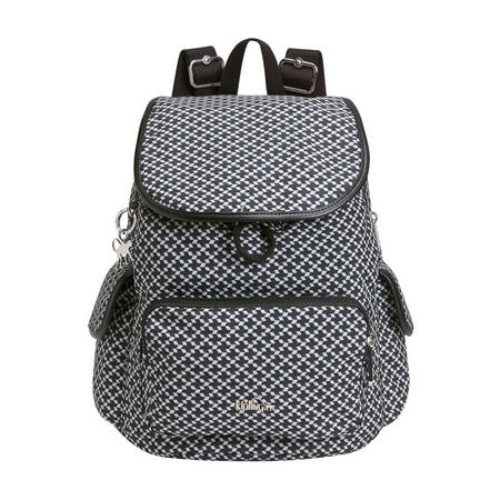 City Pack S Small Backpack Retro Geo Black