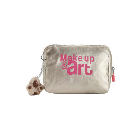 Inami M Makeup Pouch Silver Beige