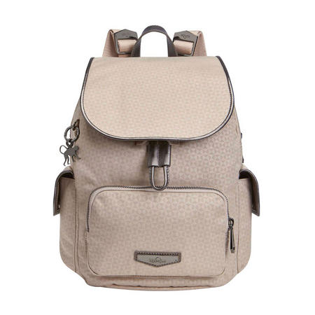 City Pack S Small Backpack Almond Emb
