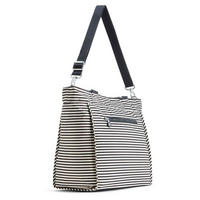 New Shopper L Large Shoulderbag Marine Stripy