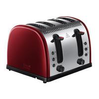 Legacy Metalic 4 Slice Toaster Red