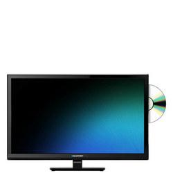 "24"" Smart Built in DVD Player TV Black"