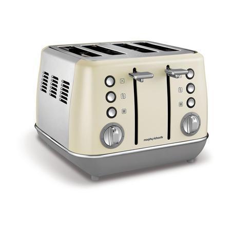 Evoke 4 Slice Toaster Cream