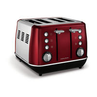 Evoke 4 Slice Toaster Red