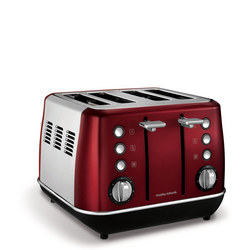 Evoke 4 Slice Toaster Red