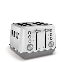 White Evoke 4 Slice Toaster White
