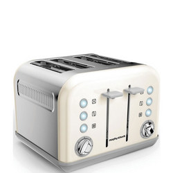 Accents White 4 Slice Toaster