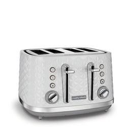 Vector 4 Slice Toaster White