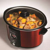 3.5L Red Digital Sear and Stew Slow Cooker Red