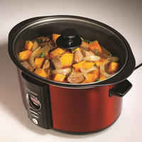 6.5L Red Digital Sear and Stew Slow Cooker Red