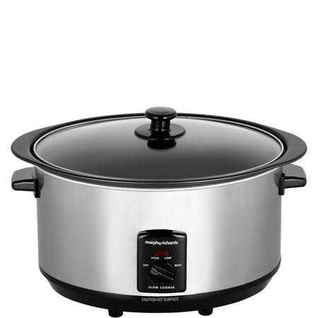 Oval Stainless Steel Slow Cooker 3.5L Silver