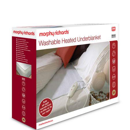 Single Washable Heated Underblanket Beige