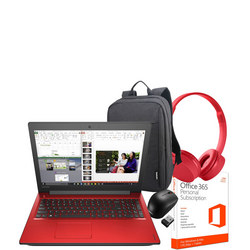 IdeaPad 310 15.6, 4GB RAM, 1TB HDD, i3 Processor Red - Back to School Bundle
