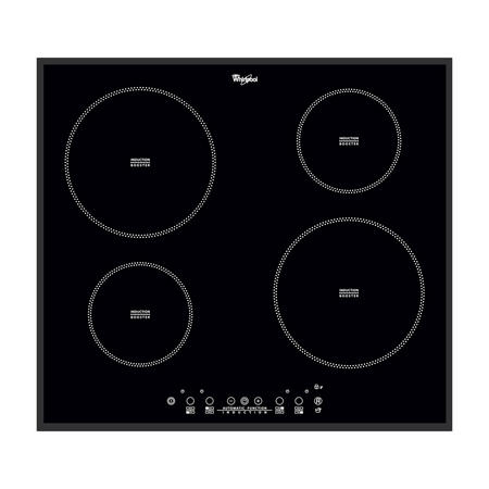 60cm Induction Hob with 9 Power Levels Black