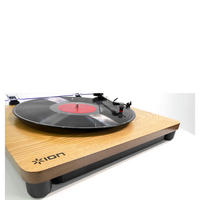 Ion Wood Finish, Bluetooth Turntable Brown