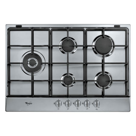 73cm Gas Hob with Inox Anti Fingerprint Stainless Steel