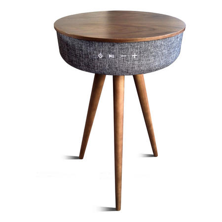 Wooden Table With Integrated BT Speaker