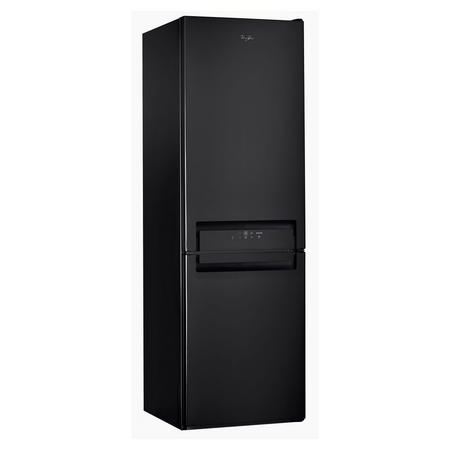 60cm 60/40 Connected Black Gloss Fridge Freezer Black