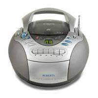 Cd/Radio And Tape Radio Silver Tone