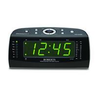 Chronoplus2 Black Clock Radio Silver Tone