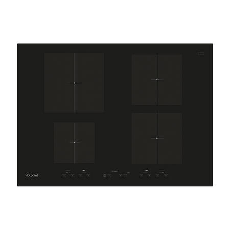 70cm induction hob Induction Hob 4 Cooking Zones Black
