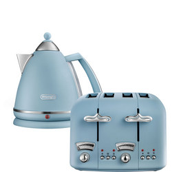 Argento Flora Kettle & Toaster Set Blue
