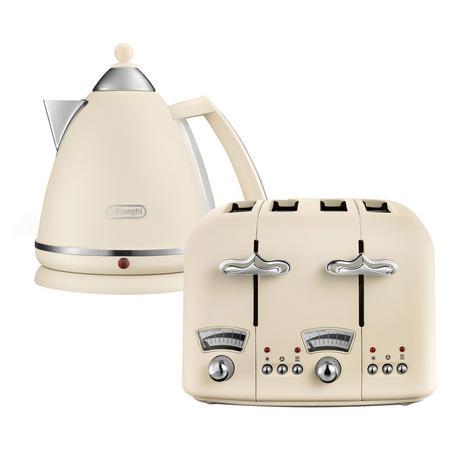 Argento Flora Kettle & Toaster Set Beige
