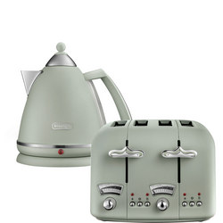 Argento Flora Kettle & Toaster Set Green