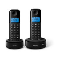 Corded Phone Dual Black