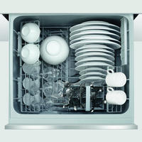 60Cm Integrated Double Drawer Dishwasher Silver Tone