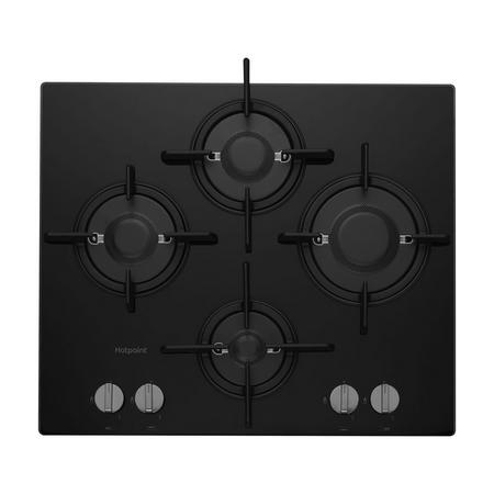 60cm Gas Hob Gas Hob Direct Flame Nat Gas Only Black