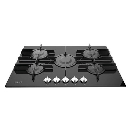 70cm Gas Hob Gas Hob Direct Flame Nat Gas Only Black