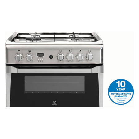 60cm Gas Cooker Double Stainless Steel Finish Variable Grill