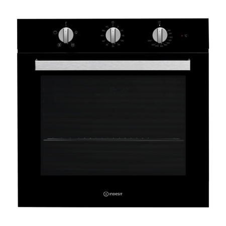 Aria Collection 66 Litre Single Oven with Easy To Clean Enamel cleaning Black