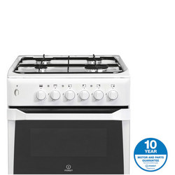 50cm Gas Cooker Twin Cavity White Finish Variable Grill White