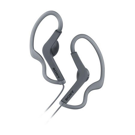 Sports Sweatproof Loop Hang Earphones Black