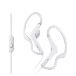 Sports Sweatproof Loop Hang Earphones Inc Mic White