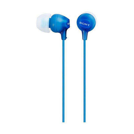 In Ear Earphones With Silicon Earbuds Blue