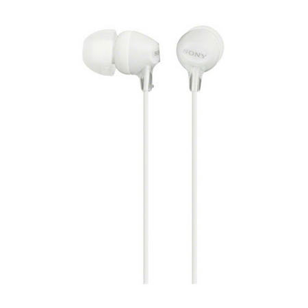 In Ear Earphones With Silicon Earbuds White