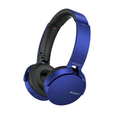 Extra Bass Bluetooth Headphones Blue