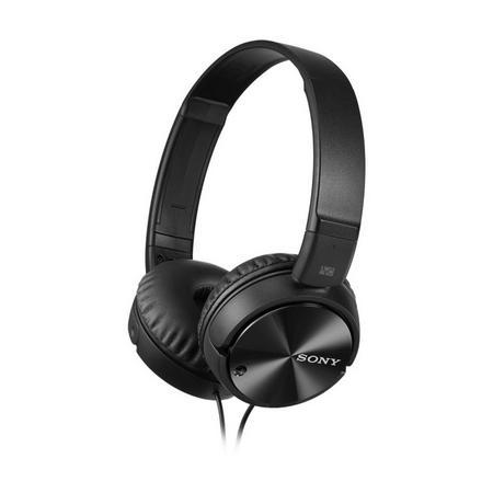 Smartphone Compatible Noise Cancelling Headphones Black