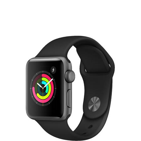 Apple Watch 3 42mm Space Grey Black Band
