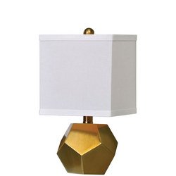 Pentagon Cubes Lamp Set of 2 Gold-Tone