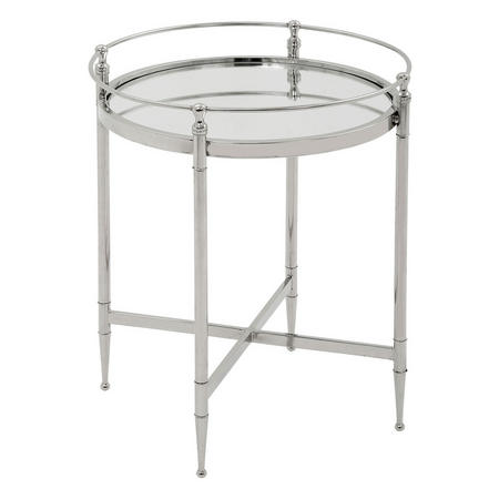 Marlee Round Table  Silver-Tone