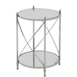 Darla Round Table  Silver-Tone