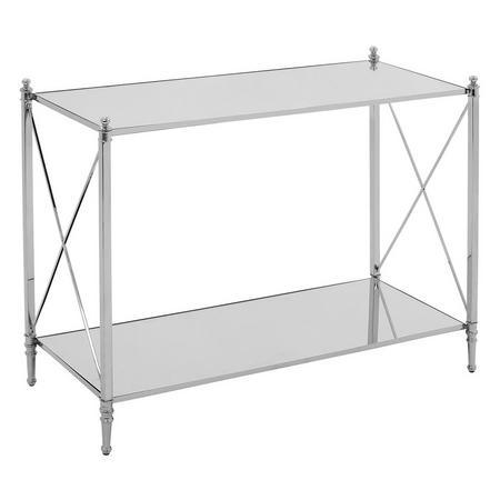 Darla Console Table Silver-Tone