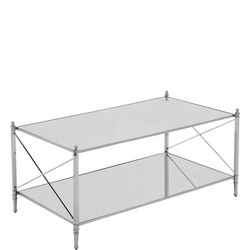 Darla Coffee Table  Silver-Tone