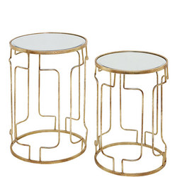 Cliona Tables Set of 2 Gold-Tone